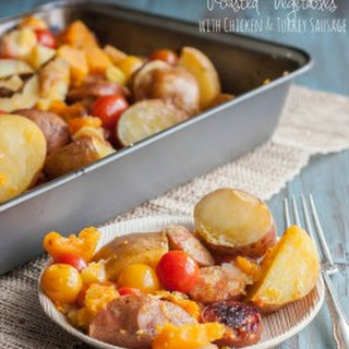 Roasted Vegetables with Chicken and Turkey Sausage