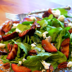 Grilled Plum Salad with Brandy-Mint Vinaigrette