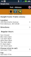 Screenshot of Fort Atkinson Public Library