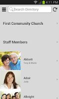 Screenshot of Instant Church Directory