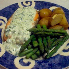 Salmon With Cucumber-Dill Sauce