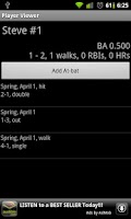 Screenshot of Softball Stats