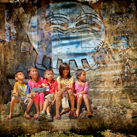 Happiness by Ferdinand Ludo - Babies & Children Children Candids ( kids free from school, happy, sunday, alley in a wall )