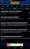 Screenshot of College Basketball Scoreboard