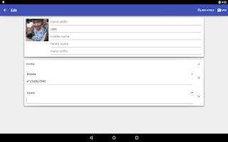 Screenshot of Contacts VCF