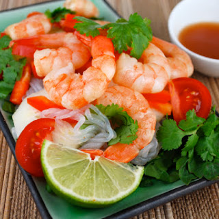 Shrimp and Shirataki Salad with Thai Flavors