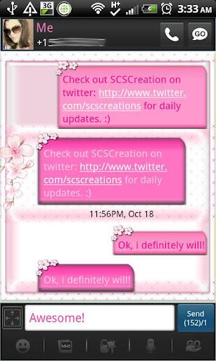 GO SMS - Cherry Blossoms