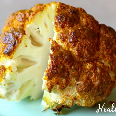 Whole Roasted Cauliflower With Indian Spices Recipe | Yummly