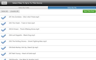 Screenshot of Wifi Media Sync:Tablet Edition