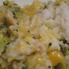 Chicken Broccoli Rice and Cheese Casserole