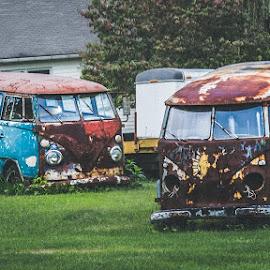 Dreams in Rust by Kenin Bassart - Transportation Automobiles ( vw, cars, vw bus, rust, classic )