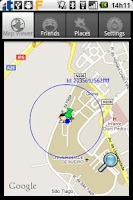 Screenshot of Wireless Sensor Location