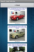 Screenshot of Used Vehicles for Sale Finder