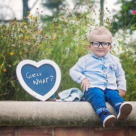 im going to be a big borther by Melissa Marie Gomersall - Babies & Children Toddlers ( announcement, glasses, flowers, toddler, cute, spring )