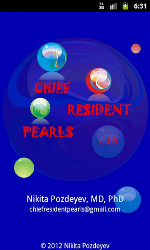 Chief Resident Pearls