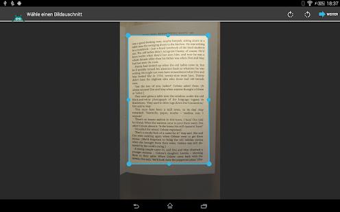 textfee scanner app f r android mit ocr texterkennung und pdf export. Black Bedroom Furniture Sets. Home Design Ideas