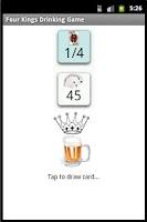 Screenshot of Drinking Game - Kings Cup