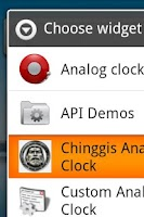 Screenshot of Chinggis Khan Clock Widget