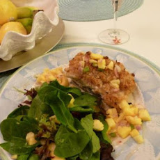 Coconut Macadamia Encrusted Halibut