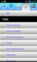 Screenshot of Scottish football news 2014