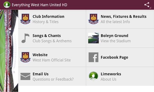 Everything West Ham United HD - screenshot