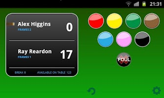 Screenshot of Snooker Scoreboard Free