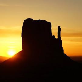 Sunrise at Monument Valley by Chris Jarrell - Landscapes Sunsets & Sunrises