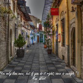 Ioannina by Stratos Lales - Typography Quotes & Sentences ( market, life, right, colours, city )