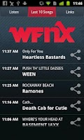 Screenshot of WFNX Radio