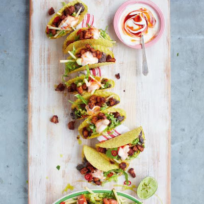 Ultimate Pork Tacos With Spicy Black Beans & Avocado Green Salad