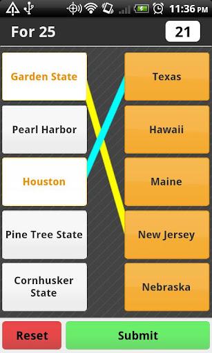 US States Trivia Match Free