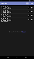Screenshot of Simple Alarm Pro