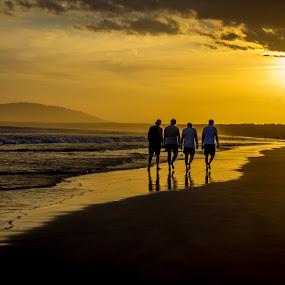 Boys of summer by David Spillane - Landscapes Beaches ( colour, friends, australian, sunset, new south wales, beach,  )