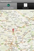 Screenshot of Map Navigation
