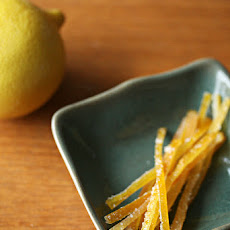 Candied Meyer Lemon Peels