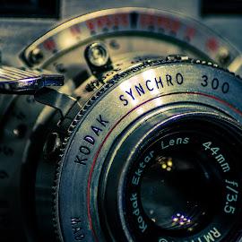 Kodak Synchro 300 by Mike Vought - Artistic Objects Antiques ( vintage, camera, kodak )