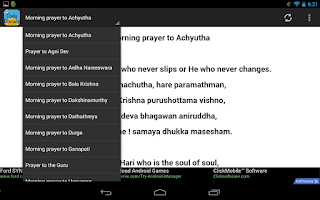 Screenshot of Daily Prayers