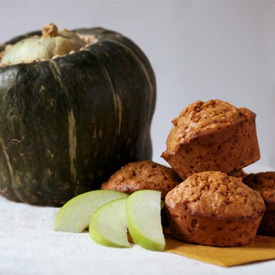 Buttercup Squash Muffins with Grated Apple