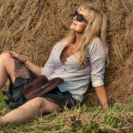 Relax by Nick-Nikola Mraovic - People Portraits of Women ( work, field, farm, ranch, woman, summer )