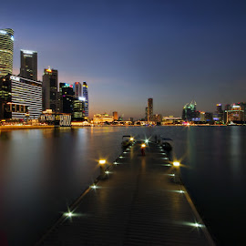 Skyline @Blue Hour by Ken Goh - City,  Street & Park  Skylines