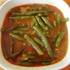 Egyptian Green Beans in Tomato Sauce