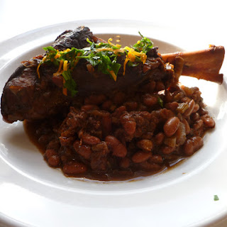Coffee Infused Braised Lamb Shanks and Beans