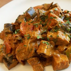 Eggplant, Tomato and Green Onion Curry