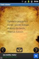 Screenshot of Ünlü Sözler