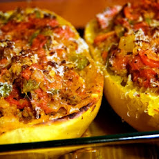 Spaghetti Squash with Sausage Filling
