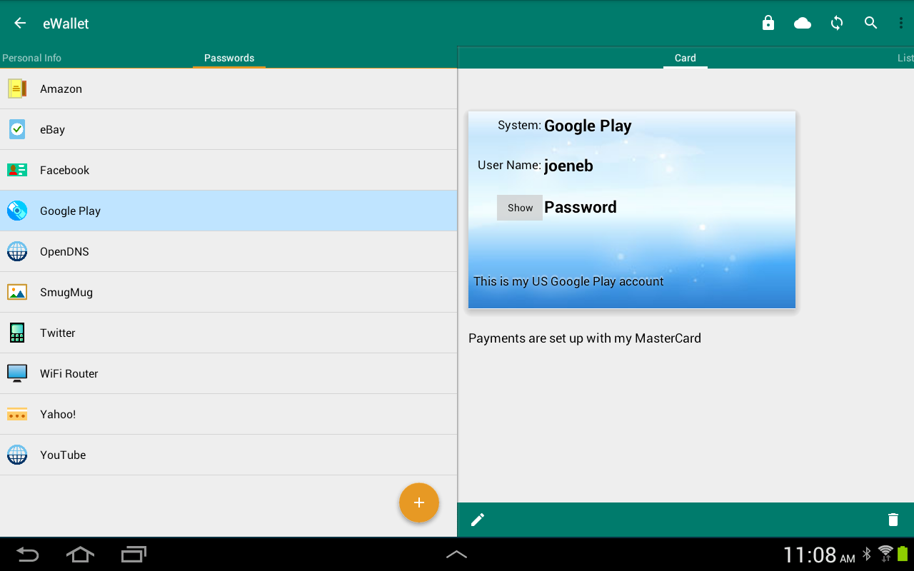eWallet - Password Manager Screenshot 13