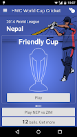 Screenshot of HW World Cup Cricket Game 2015