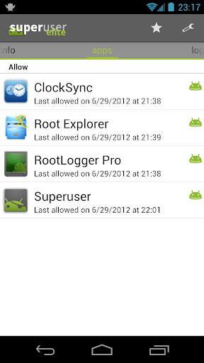 superuser for android screenshot