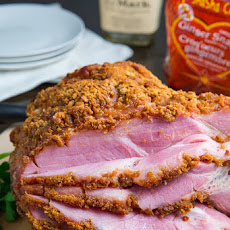 Bourbon Gingersnap Crusted Ham