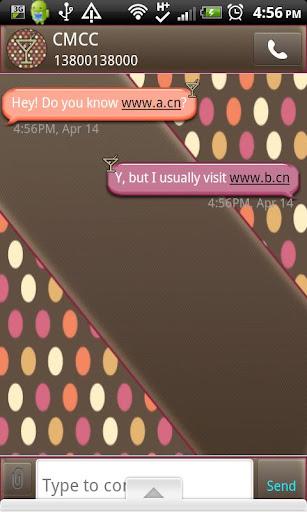 GO SMS THEME CocktailTime